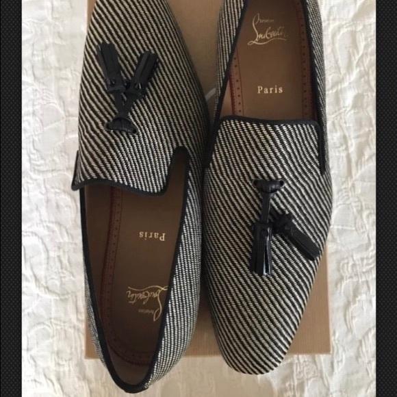 hot sale online df5a4 c6e21 Louboutin dandelion tassel flat men's (45, 12 US) NWT